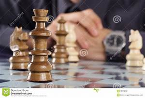 Business Man Playing Chess Stock Photography - Image: 16118732
