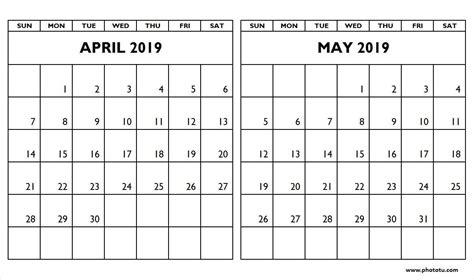 editable april  calendar template   word excel