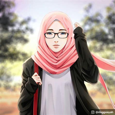 gambar kartun berhijab moderen hijab girl anime hijab