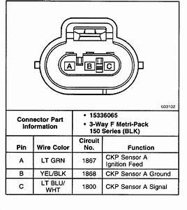 Wiring For Upper Crankshaft Position Sensor Connector