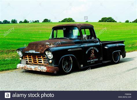 chevrolet custom rat rod pickup truck stock photo