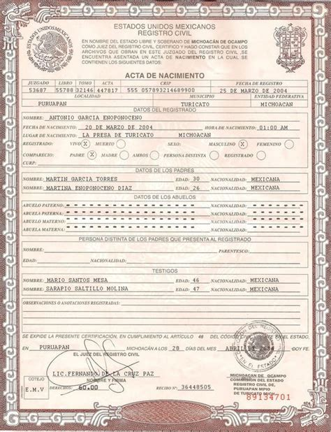 Mexican Marriage Certificate Template by 25 Best Ideas About Birth Certificate On