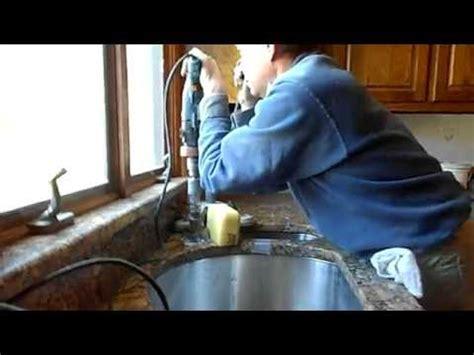 drill granite countertop how to drill faucet holes granite countertops