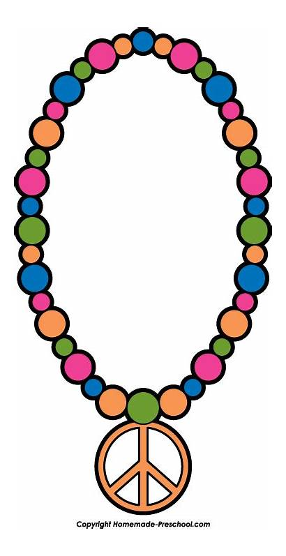 Necklace Clipart Peace Sign Jewelry Cartoon Clipartpanda
