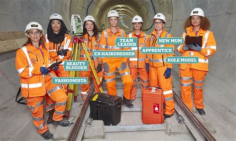 Meet the female Crossrail engineers | Daily Mail Online