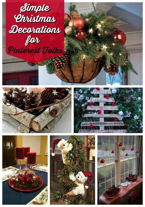 simple christmas decoration ideas   pinterest friends