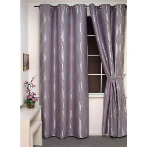 rideau occultant gris clair paire de rideaux occultants volutes gris clair achat vente rideau 100 polyester les