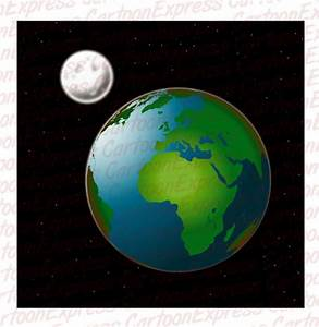 cartoon vector illustration earth moon
