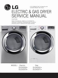 Lg Dlex3370v Dlex3370w Dryer Service Manual And