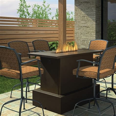 bar height patio table with pit key west pit table bar height