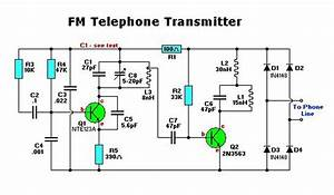 Electronic Fm Telephone Transmitter Circuit