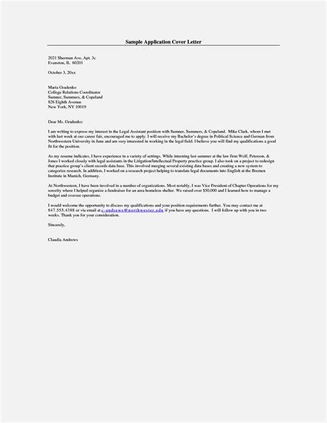 cover letter for application application cover letter exle resume template