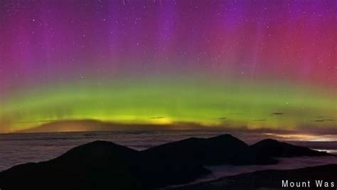 northern lights new hshire borealis spotted from mount washington and caribou
