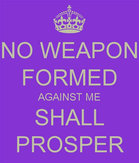 no weapon formed against me shall prosper poster thabo