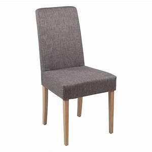 chaise de salle a manger en tissu et bois massif gaby With salle À manger contemporaineavec chaises bois massif salle manger