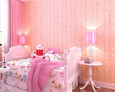 pink walls bedroom beibehang papel de parede children room bedroom non 12894