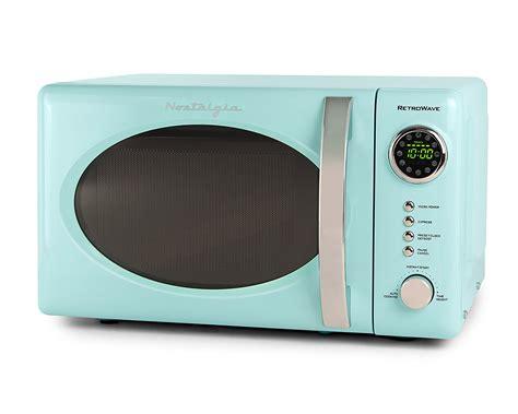 nostalgia aqua blue retro microwave oven