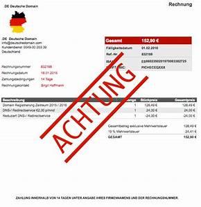 De Deutsche Domain Rechnung : achtung abzocke fk web edv ~ Themetempest.com Abrechnung