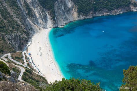 Myrtos Beach Kefalonia Beaches Nikanagr