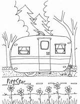 Coloring Printable Trailer Travel Pages Trailers Instant Camper Books sketch template