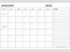 2018 Month Year Calendar Editable Free Indo Templates
