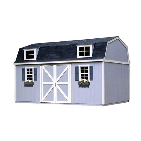 Home Depot Storage Sheds Kits by Handy Home Products Berkley 10 Ft X 16 Ft Wood Storage