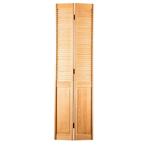interior louvered doors home depot masonite 30 in x 78 in smooth half louver unfinished