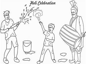 Holi Latest Coloring Drawing Painting Pages Pictures GIF ...