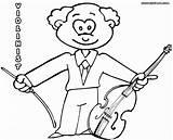 Violin Coloring Fiddle Colour Colorings sketch template