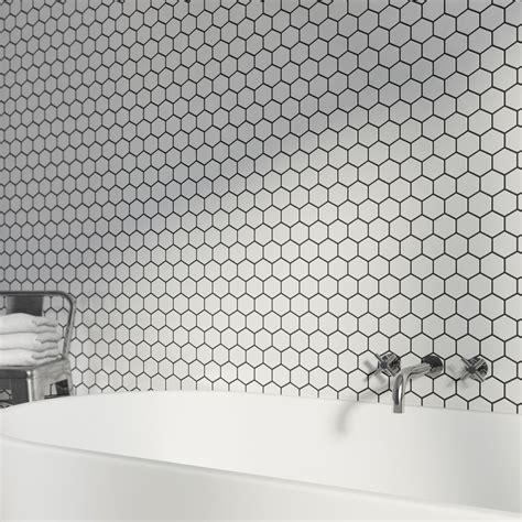 white mosaic tile mosaic hex white tile 300mm x 300mm 1 sheet