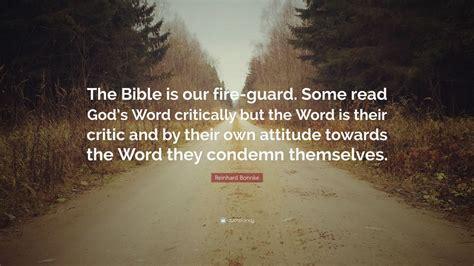 reinhard bonnke quote  bible   fire guard