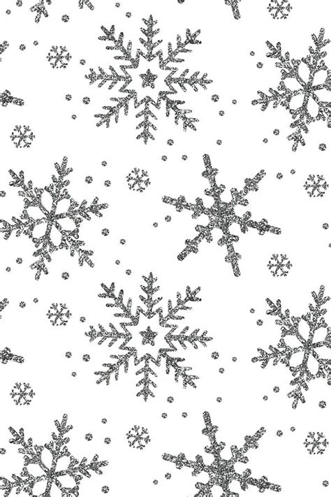 Glitter Snowflake Background by Snowflake Shimmer On White By Willowlanetextiles Silver