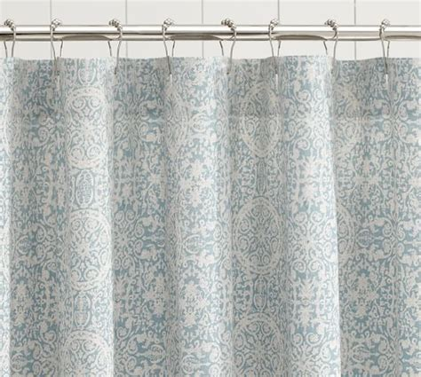 tile shower curtain pottery barn
