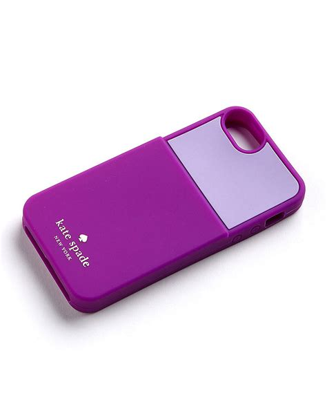 kate spade iphone cases kate spade silicone card slot iphone 5 in purple lyst
