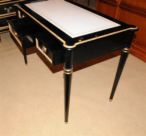 Black Writing Desk And Chair by Regency Black Lacquer Writing Desk Chair Set