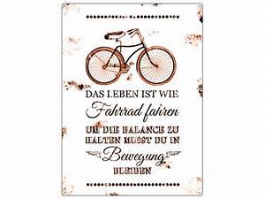 Das Leben Ist Wie Ein Fahrrad : wanddeko metallschild blechschild das leben ist wie fahrrad ein designerst ck von interluxe ~ Orissabook.com Haus und Dekorationen