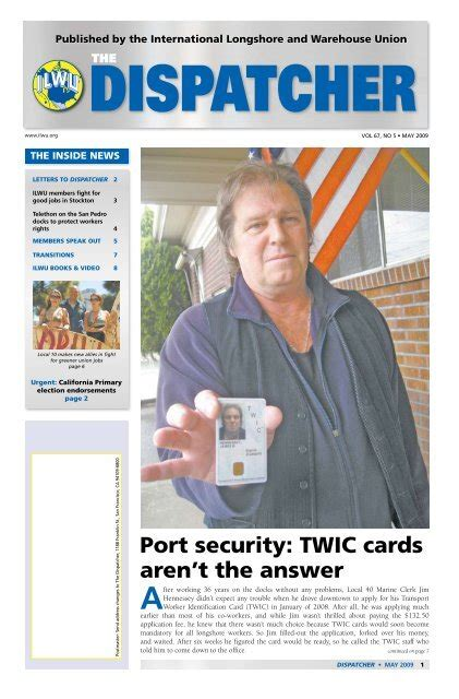 The transportation worker identification credential (or twic) program is a transportation security administration and u.s. How To Apply For A Twic Card