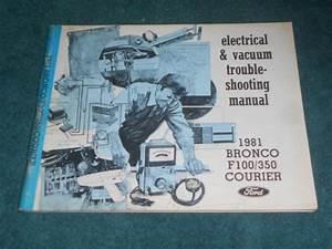 Sell 1981 Ford Pickup    Bronco  Wiring  U0026 Vacuum Diagram