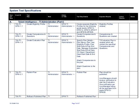 System Test Template templates test plan template work plan template excel