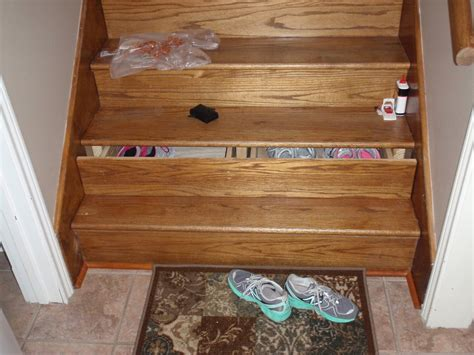 stairs drawers staircase drawers first home wood project by bigbrownlog lumberjocks com woodworking