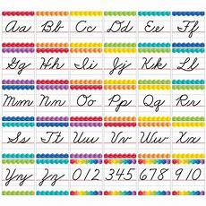 Painted Palette Cursive Handwriting Alphabet Bulletin Board  Ctp7056  Creative Teaching Press