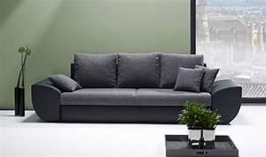 Big Sofa 250 Cm : big sofa mit schlaffunktion und bettkasten in schwarz grau r ckenecht bezogen mit ~ Bigdaddyawards.com Haus und Dekorationen