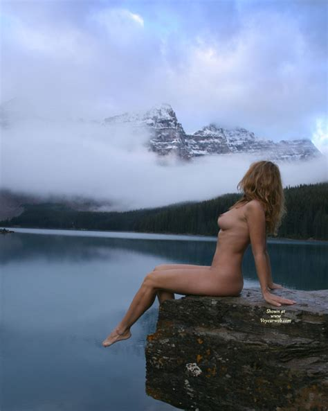 Naked Sexy Girl Sitting On A Rock December