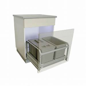 Poubelle De Tri Cuisine : poubelle coulissante 45 litres grise ~ Dailycaller-alerts.com Idées de Décoration
