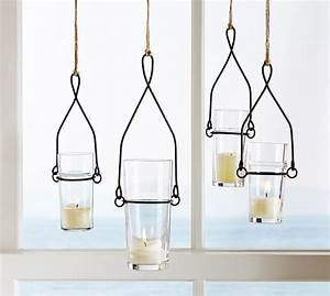 17 best images about lighting on pinterest porch for Kitchen colors with white cabinets with hanging glass votive candle holders