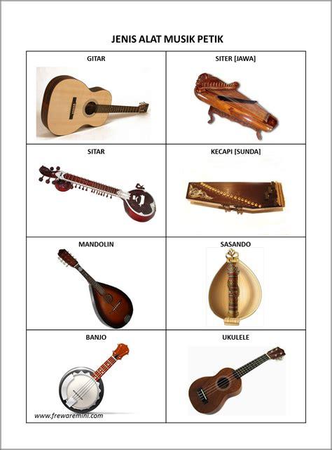Alat musik melodis memiliki nada. Gambar Alat Musik Elektrofon
