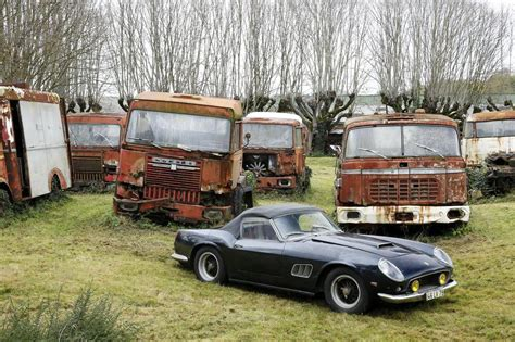 Over 60 automotive treasures rediscovered in French barn