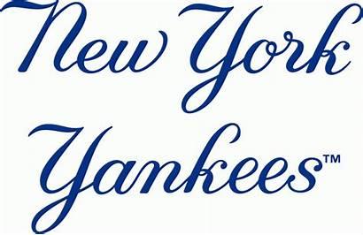 Yankees York Logos Sportslogos Wordmark Clipart Sports