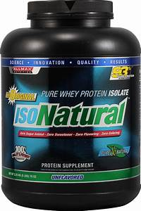 Allmax Nutrition Isonatural U2122 Whey Protein Isolate Unflavored