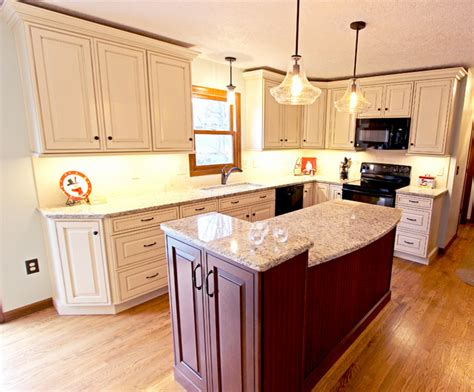 kitchen with granite countertops wadsworth